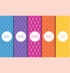 set colorful seamless patterns vector image