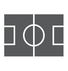 soccer field glyph icon game and sport vector image