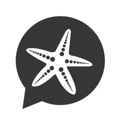 Star fish summer isolated icon vector