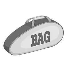 Tennis bag icon gray monochrome style vector