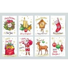 Vintage Christmas decoration vector image
