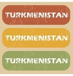 Vintage Turkmenistan stamp set vector image