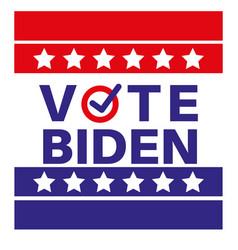 Vote biden us american presidential election 2020 vector