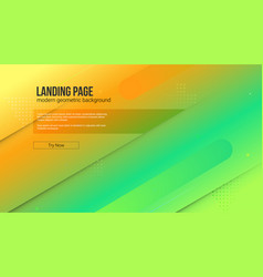 website template with modern gradient and graphic vector image