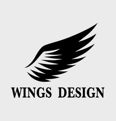 Wings design 4 vector