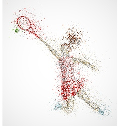 Abstract tennis player vector image vector image
