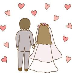Bride and Groom Wedding vector image vector image