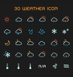 Full color weather icon set vector image