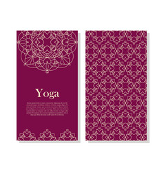 ornamental business card vector image