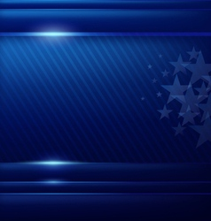 Abstract blue background flag of american vector image vector image