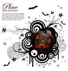 abstract halloween background vector image vector image