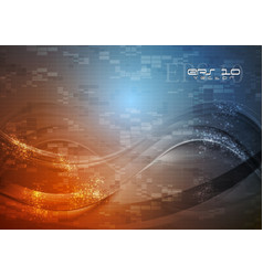 Abstract hi-tech wavy vector image vector image