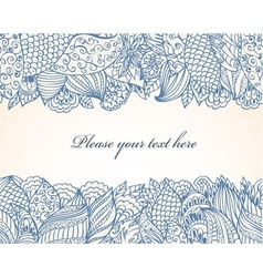 Abstract Ink Doodle background vector image