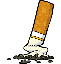 cigarette butt vector image vector image