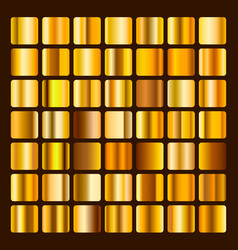 collection metallic and golden gradient vector image