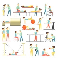 Physical Therapy Infographic vector image vector image