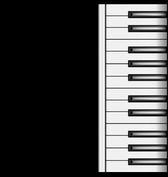 piano keyboard on a dark background vector image