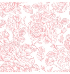 seamless vintage pattern with roses vector image vector image