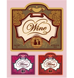 set of labels for different kinds of wine vector image vector image