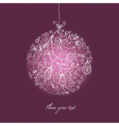 Christmas ball ornaments vector image