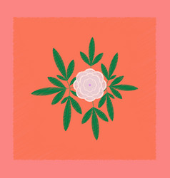 Flat shading style flower paeonia vector