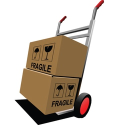 fragile boxes vector image