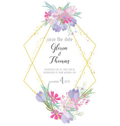 greeting card for the wedding day vector image vector image