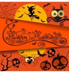happy halloween holiday vector image vector image