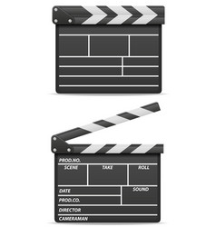 movie clapper stock vector image vector image