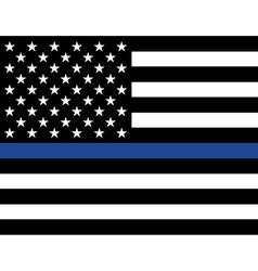 Police Law Enforcement American Flag vector image