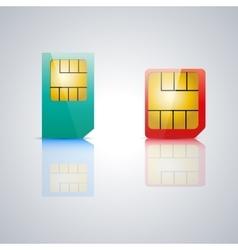 Set SIM card vector image