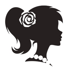 Vintage cameo women silhouette vector image vector image