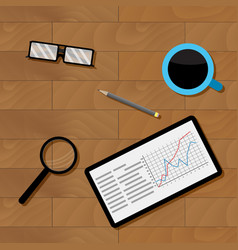 workplace businesman top view vector image vector image