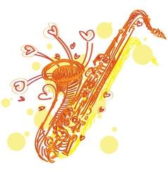 abstract sketchy sax vector image vector image