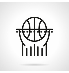Basketball black line icon vector image vector image