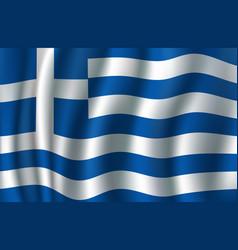 flag of greece 3d greek blue white banner vector image vector image