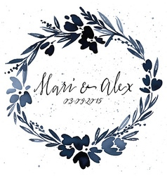 Flower pattern Wedding Birthday Handmade vector image vector image