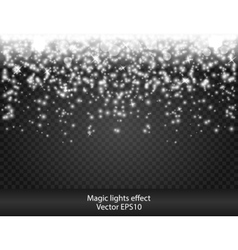 Glow special effect light flare star Firework vector image