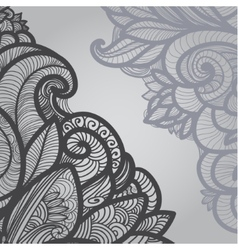 gray outline floral on light vector image vector image