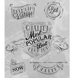 Heraldry chalk premium gray vector image vector image