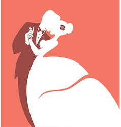 romantic wedding vector image vector image