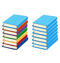 two stacks of thick books vector image vector image
