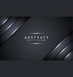 abstract black metallic 3d background vector image