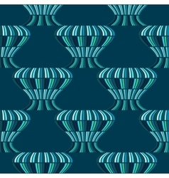 Abstract blue balloons seamless pattern vector image
