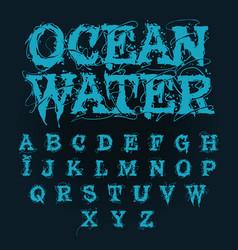aqua alphabet vector image