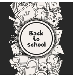 Back to school background with education hand vector