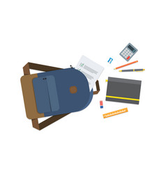 back to school backpack with flying school vector image