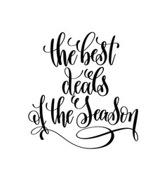 best deals of the season black and white hand vector image