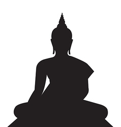 buddha silhouettes on the white background vector image rh vectorstock com buddha vector free download buddha vector free