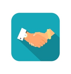 Business person handshake vector